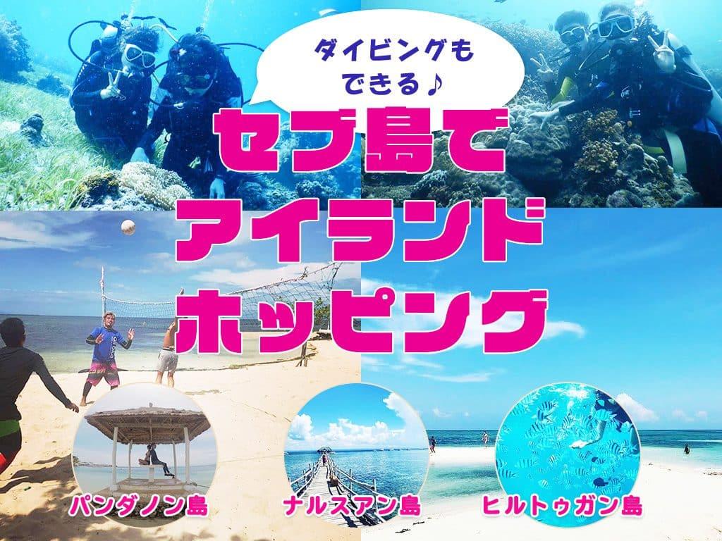 アイランドホッピング/体験ダイビング付きで一番人気はパンダノン島!